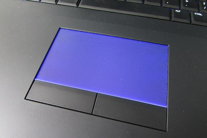 The backlit touchpad is a nice touch.