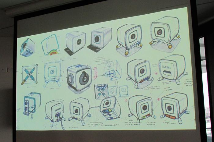 Slide illustrating Quebee concept designs.