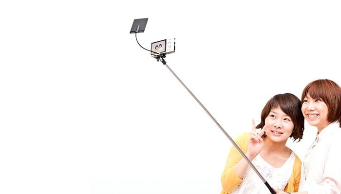 The Zuckerberg Selfie Stick in action.