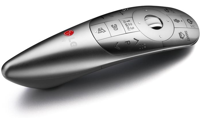 LG's premium Magic Remote.