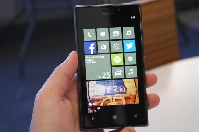 The Lumia 925 is thinner and lighter than its predecessor and is comfortable to hold.