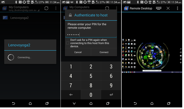 Configuring remote desktop on a smartphone is easy