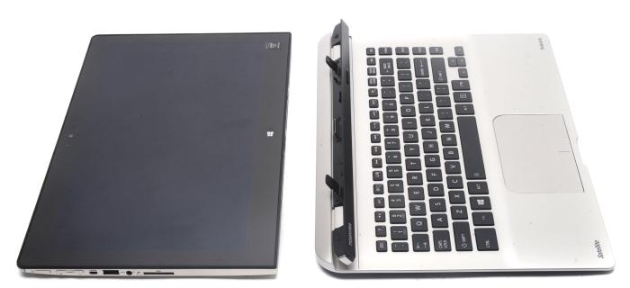 The tablet weighs 1.12kg on its own, while the keyboard dock weighs 981g.