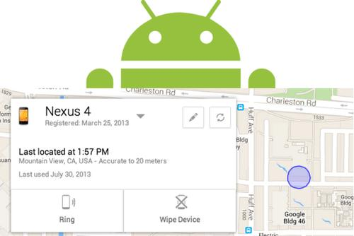 The Android Device Manager interface in action.