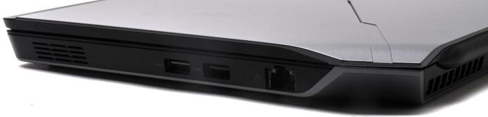 Right view: USB 3.0, Gigabit Ethernet. There's no SD card slot, which is disappointing for us.