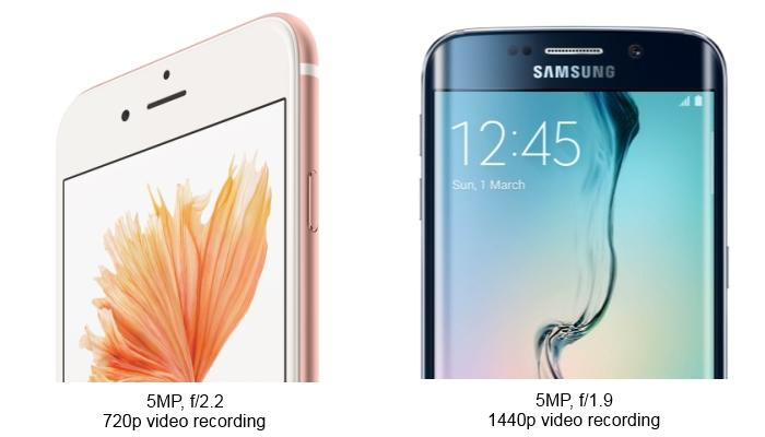 Apple iPhone 6s versus Samsung Galaxy S6 Edge