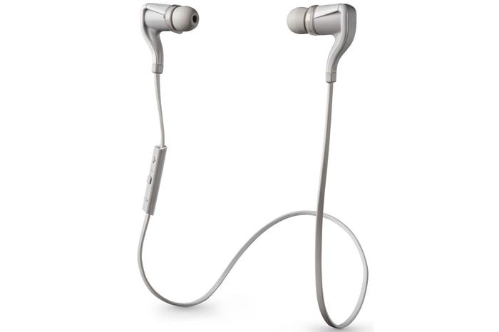 The Plantronics BackBeat Go 2 headphones, in white.