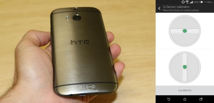 The back of the metal HTC One (M8).