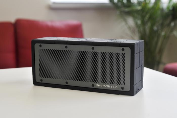 Without wires, you can place the Braven 855s anywhere and play music from a Bluetooth source. Its battery can last over 20 hours depending on the volume.