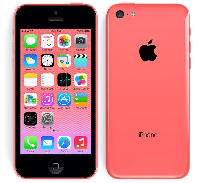 The Apple iPhone 5c.