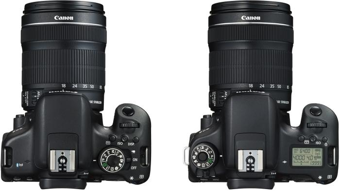 Left: EOS 750D; right: EOS 760D