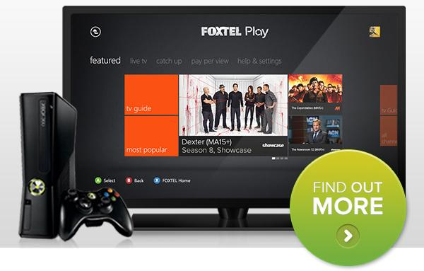 A promotional image for the Foxtel Play service, as shown via email to existing Foxtel on Xbox customers.