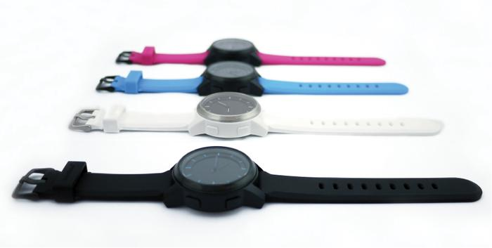 The Cookoo watch is available in a variety of colours.