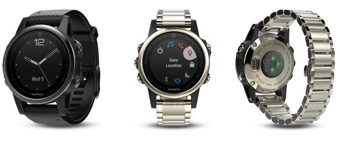 Garmin Fenix 5S watches... get a MUCH better looking watch for a bit more money.