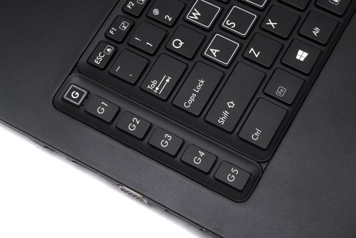 G keys on the left side can be used to access pre-recorded macros.