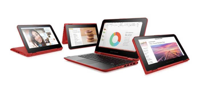 HP Pavilion x360s convertible notebook.