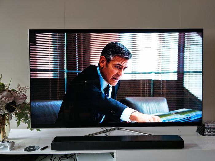 A standard definition TV movie certainly can be a bit blocky - this is a 75-inch TV after all. But it's still watchable.