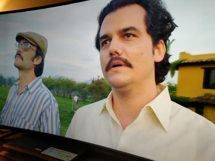 Netflix's Narcos in 4K. Almost worth buying this TV for.