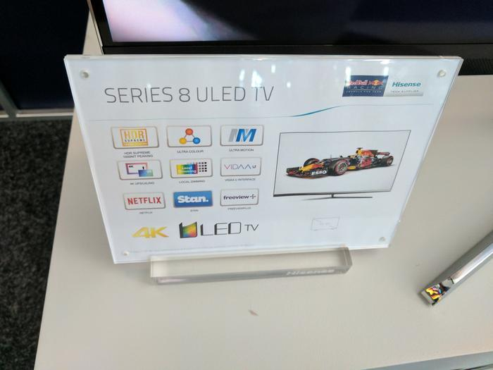 Hisense Series 8 Feature card.