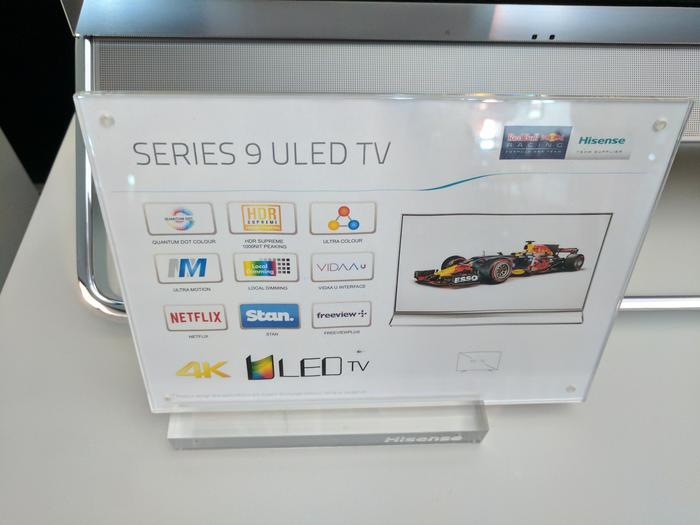 Hisense Series 9 feature card