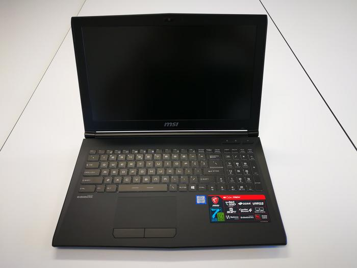 A very similar layout to other MSI gaming laptops.