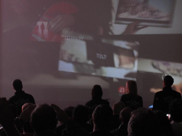 A live demo of a line of users projecting from their Yoga Tablet 2 Pro.
