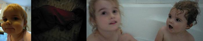 (left) Indoors in modest light we could get colour casts and soft focus. (middle) In very low light, performance couldn't match rivals. (right) More low light examples of grain and motion blur.