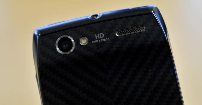 The Motorola RAZR V has an 8-megapixel camera with single LED flash.