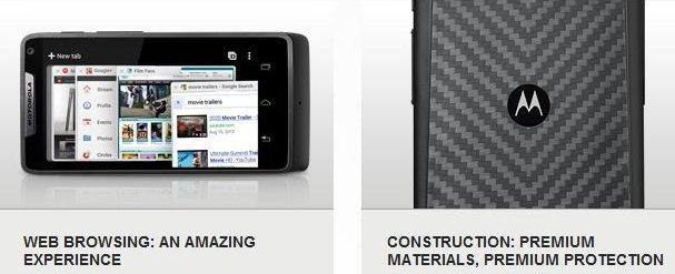 The Motorola RAZR M's screen is coated in gorilla glass, while the back has a Kevlar fibre backing.