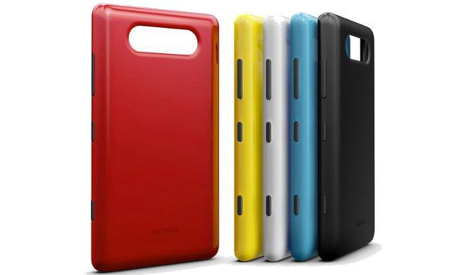 Nokia will sell back plates for the Lumia 820 in red, yellow, purple, grey, black and white colours.