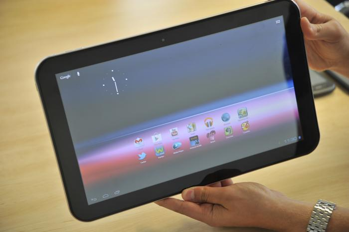 At almost 344mm wide and nearly 212mm tall, the Toshiba AT330 is a giant Android tablet.