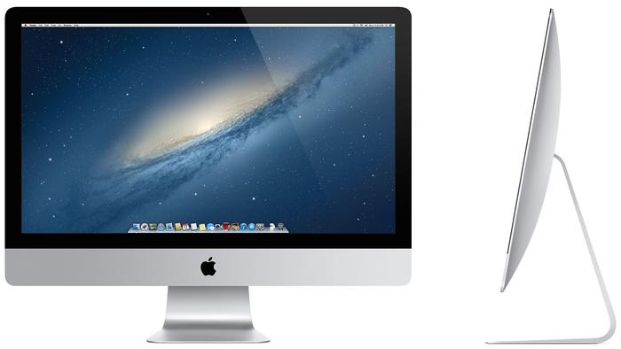The new iMac's shape curves gently towards the centre of the chassis and stand.