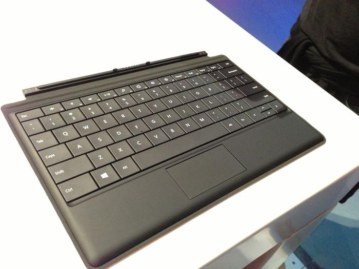 The $149.99 Type Cover for the Microsoft Surface RT.