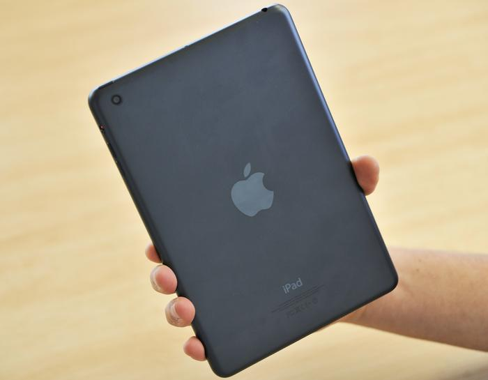 We found the iPad mini's smooth back surface hard to grip at times.
