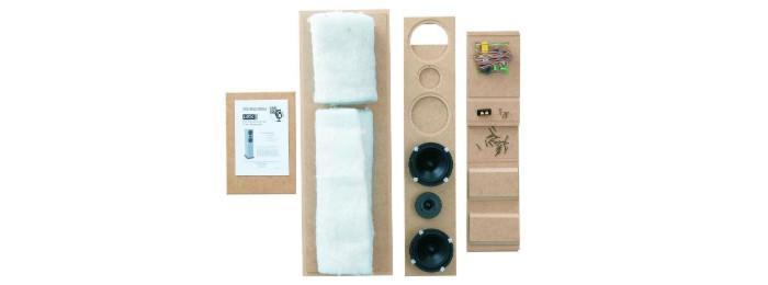 The Loudspeaker Kit's flat-packed TL6 home theatre speaker.