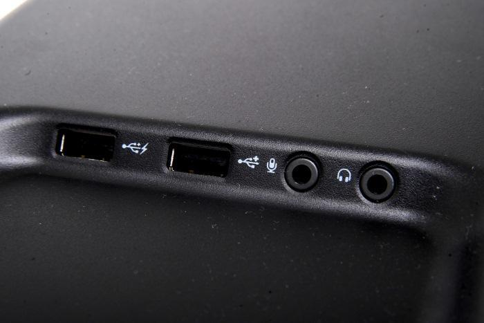The ports at the top of the case. These are USB 2.0. There are USB 3.0 ports located on the front panel, too.