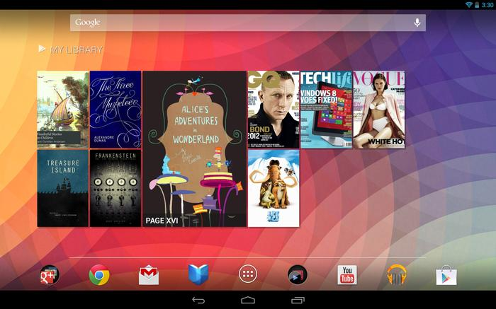 The Google Nexus 10 runs the latest version of Android, 4.2 'Jelly Bean'.