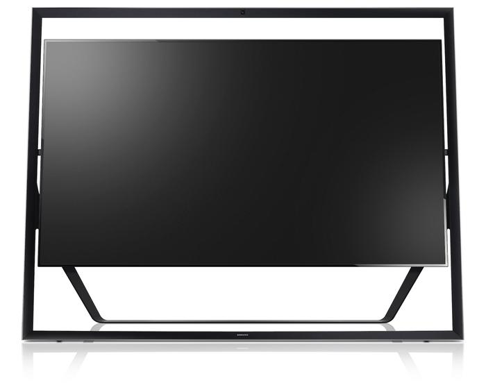 Samsung's Ultra HD 110-inch Easel TV.