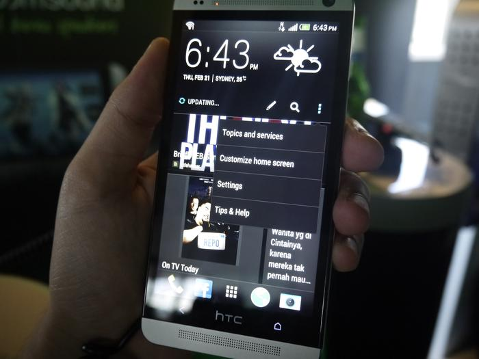 BlinkFeed can't be completely removed from the HTC One but it doesn't have to be your primary home screen.