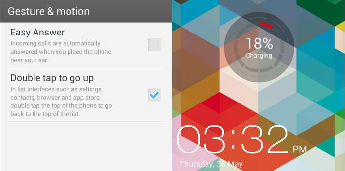 There's some useful gesture features and we love the charging indicator that appears on the lock screen.