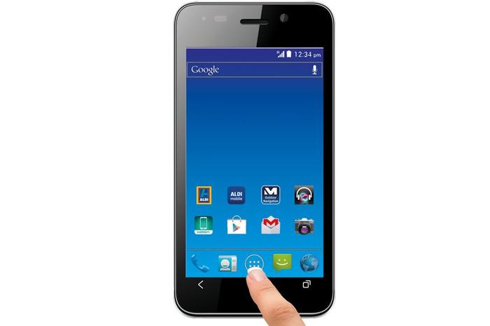 The Medion E4002 dual-SIM Android smartphone.