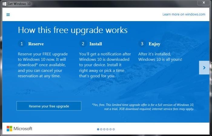 upgrade windows 8 to 10 free