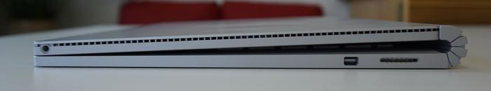 There's a 3.5mm audio jack up top, which can be irritating, along with a display port and a magnetic charging port.