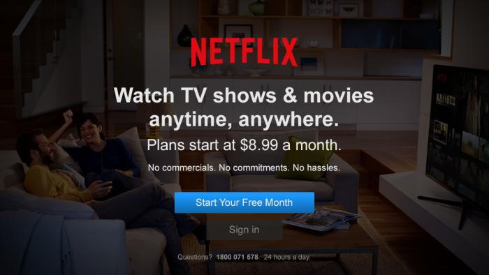 Sign in or sign up through the Netflix app.