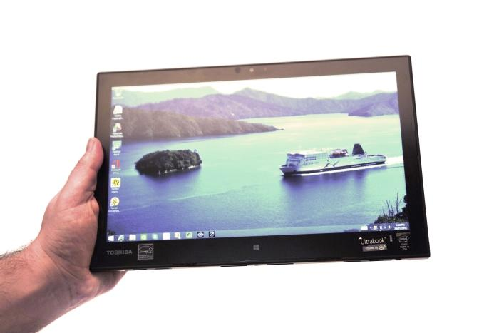 It's a lightweight tablet that's comfortable to hold and use.