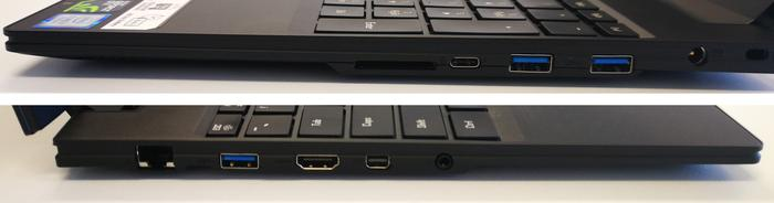 Left and right side ports.