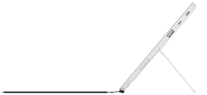 The kickstand allows the Surface Pro 2 to tilt back a little further.