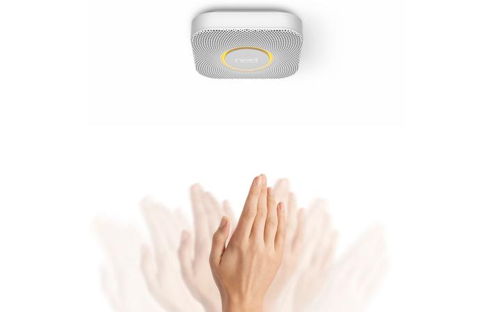 Users can wave their hand in the direction of the Nest Protect to dismiss an alert.