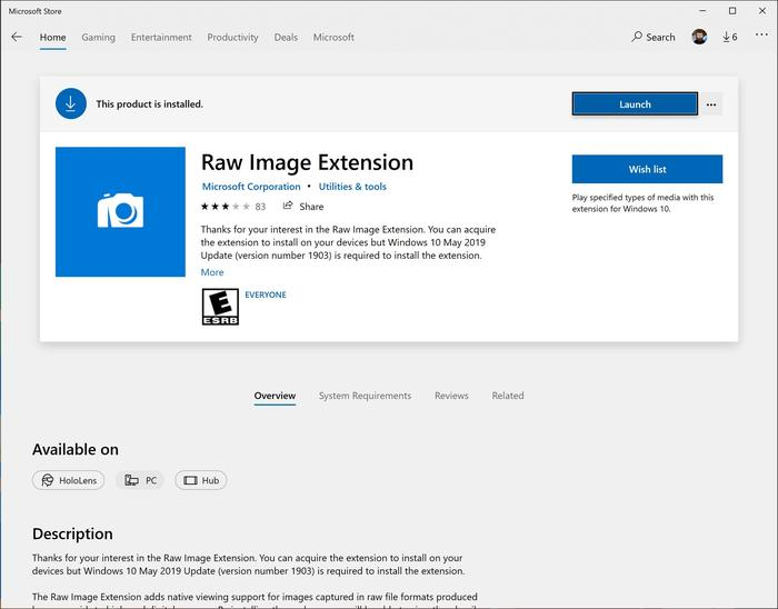 There's new support for Canon's own file format in the RAW image extension, too