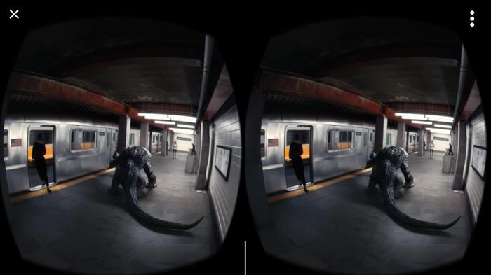 How to make your stomach churn - add movement to a Virtual Reality scene while you just sit there.